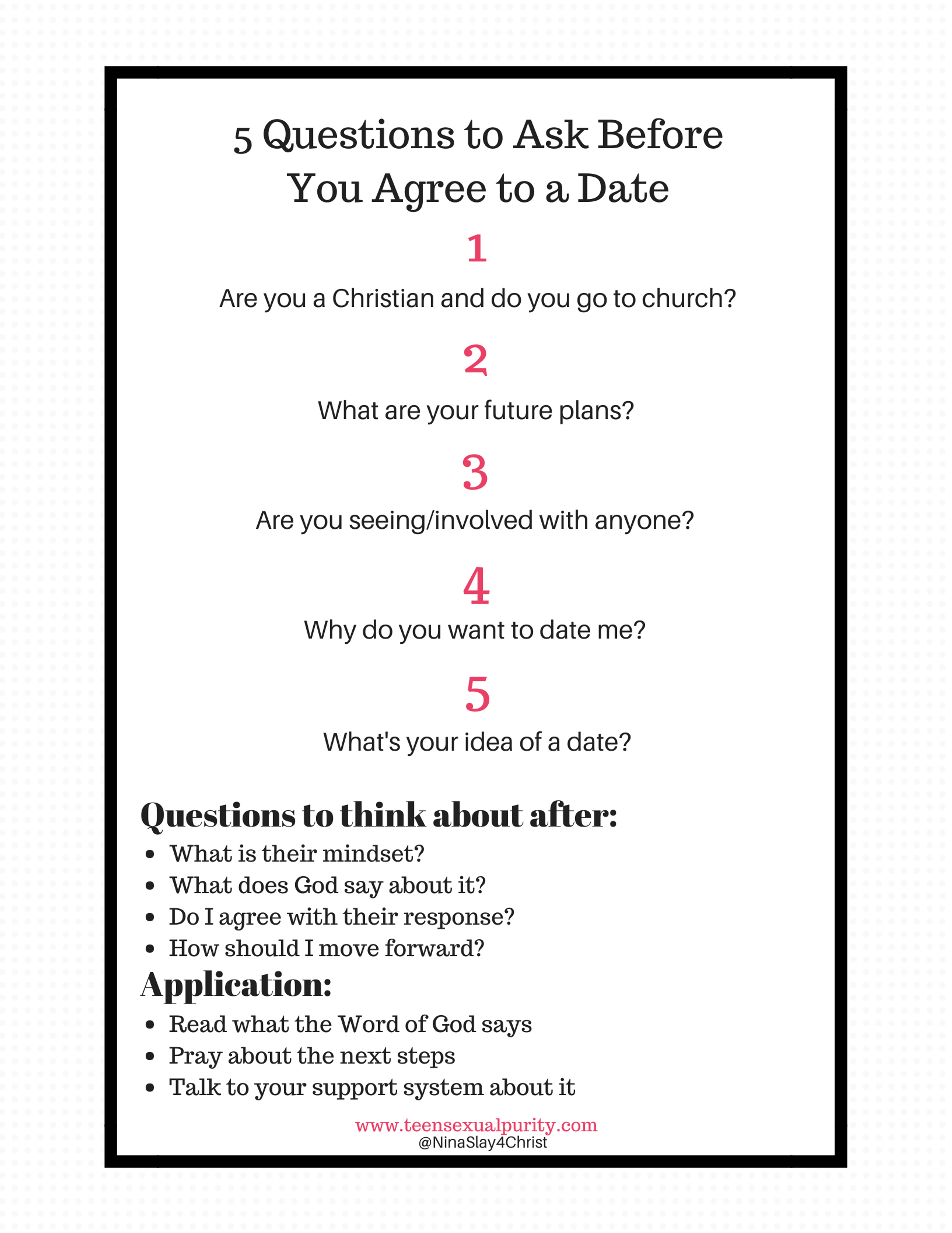 Things to ask someone before dating